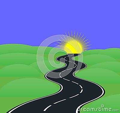 De krommen van de weg