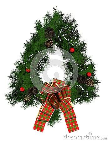 De kroondecoratie van Kerstmis