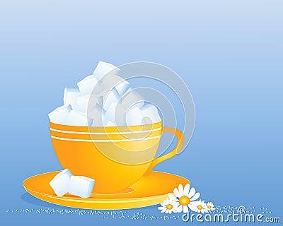 De kubuskop van de suiker