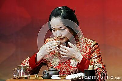 De kunst van de thee van China.
