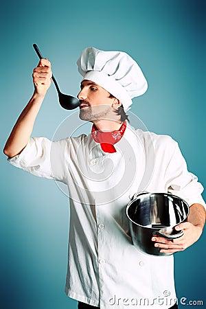 De kunstenaar van de kok