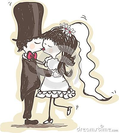 De kus van het huwelijk