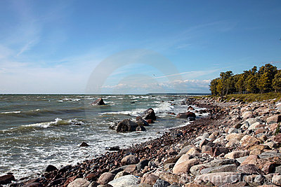 De kustlijn van Oostzee