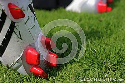 De laarzen van de voetbal