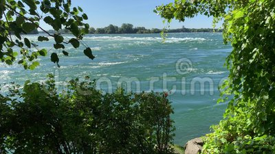 De Lachine Rapids, Saint Lawrence River stock video