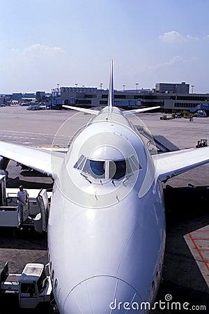 De lading van vliegtuigen