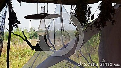 De lamp van de kerosine stock footage
