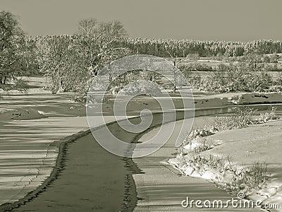 De landschappen van de winter