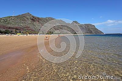 De las playa tenerife teresitas Redaktionell Arkivbild