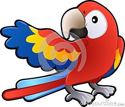 De leuke Vriendschappelijke Zieke Papegaai van de Ara