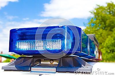 De lichten van de politie