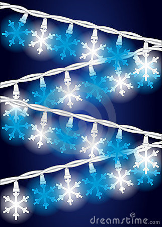 De Lichten van de Vlok van de sneeuw