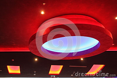 De lichten van het plafond