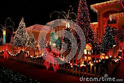 De lichten van Kerstmis