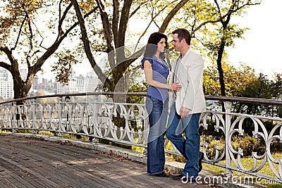 De Liefde van het Paar van het park