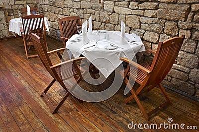 De lijst van het restaurant