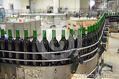 De lopende band van de wijn