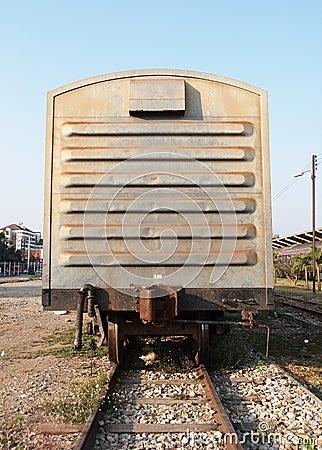 De lorrie van de trein