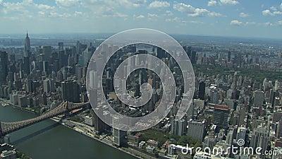 De luchtmening van de Stad van New York stock videobeelden