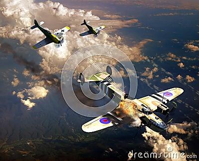 De luchtstrijd van de Wereldoorlog II