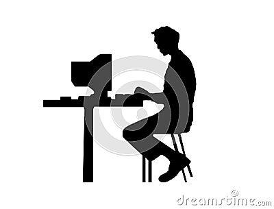? de M que datilografa em um computador