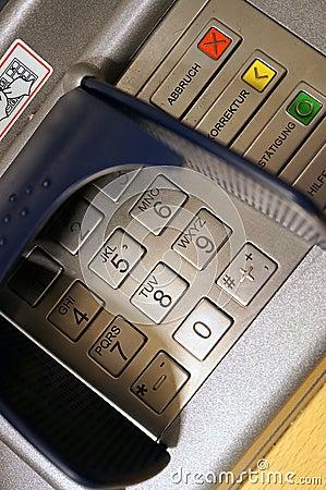 De machine van ATM of van het contante geld