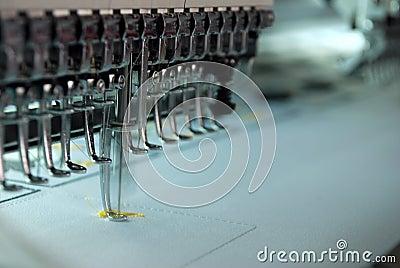 De machine van het borduurwerk