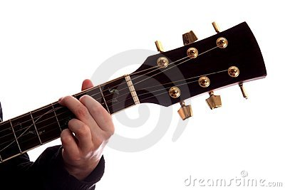 De Majoor van G van de Snaar van de gitaar