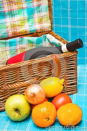 De mand van de picknick