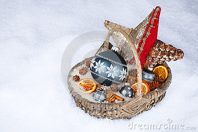 De mand van Kerstmis