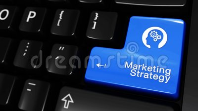 De marketing van Strategie Bewegende Motie op de Knoop van het Computertoetsenbord royalty-vrije illustratie