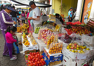 De Markt van de landbouwer Redactionele Fotografie