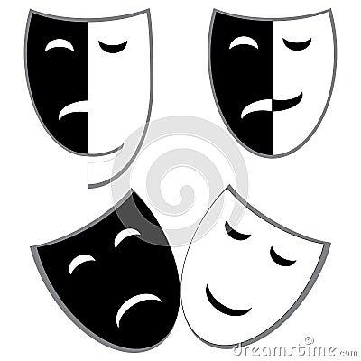 De maskers van het drama en van de komedie