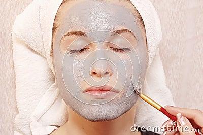 De massage van het gezicht