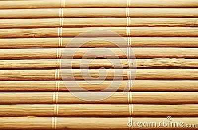 De mat van het bamboe