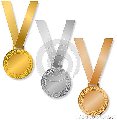 De Medailles van de toekenning/eps
