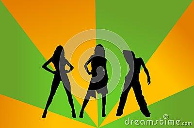 De meisjes van de disco