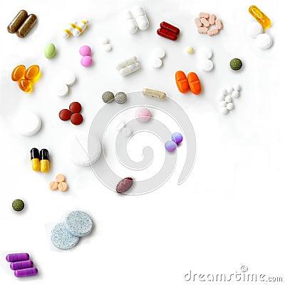 De mengeling van pillen