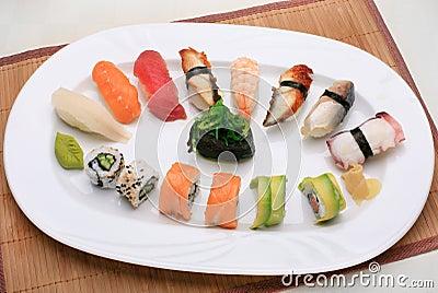 De mengeling van sushi