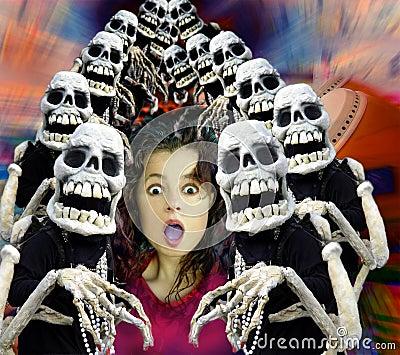 De menigte van Halloween