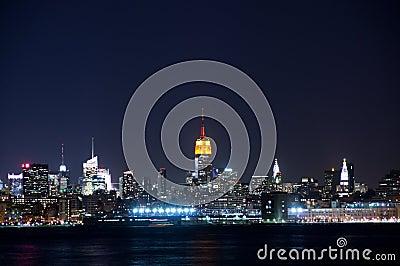 De mening van Manhattan van stad Jersy