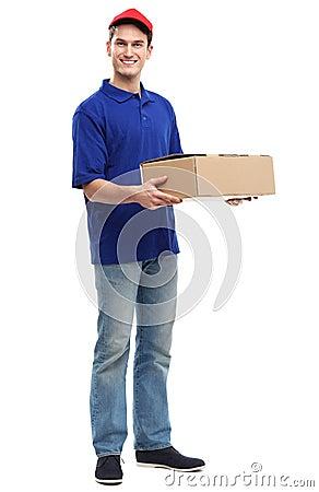 De mens van de levering