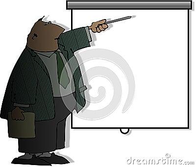 De mens van de presentatie