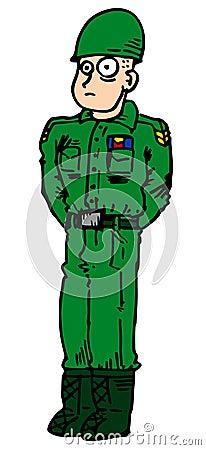De mens van het leger