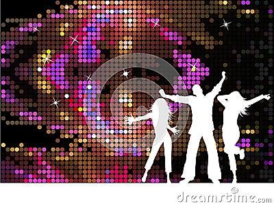 De mensen van de disco