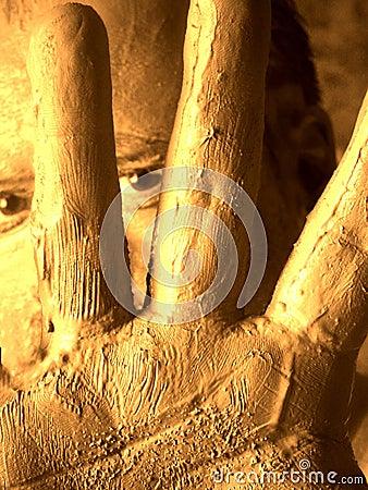 De mensen van de modder (zelfportret)
