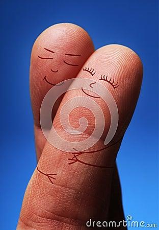 De mensen van de vinger in liefde