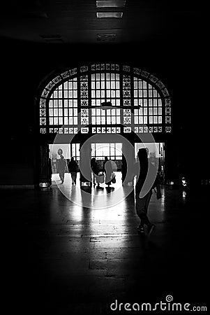 De mensen van het silhouet