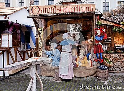 de middeleeuwse markt van kerstmis m nchen duitsland redactionele afbeelding beeld 28043840. Black Bedroom Furniture Sets. Home Design Ideas