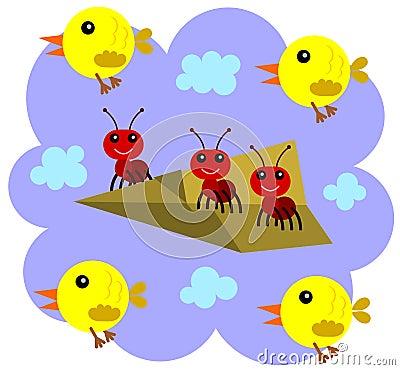 De mieren kunnen vliegen